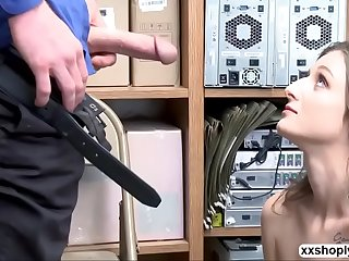Shoplifter Kenzi Ryans gets bang by LP Guys bigcock