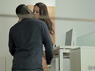 Blackguardly boss has his bbc sucked off away from the lascivious office whore