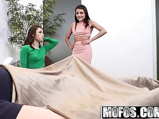 Mofos - Share My BF - Shy BFs First Threesome capital funds  Adria Rae and Lucie Cline and Alex Davis