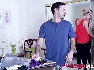 Naughty Stepmom Maxim Law Enjoys Fucked-Up Family Trine