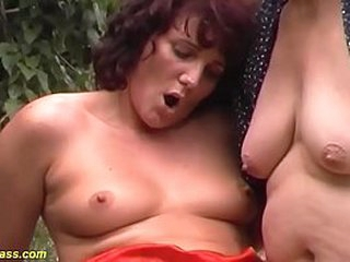 extreme wild german outdoor family therapy triplet anal fuck orgy with our hideous heavy grandma