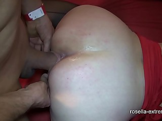 Ground-breaking bareback cum ribbon bang with Marina with the addition of Rosella! Part 3