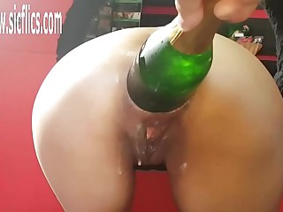 XXXL Anal Champers Bottle Fucked Latin MILF