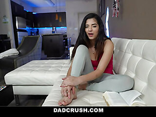 DadCrush - Teen With Hijab Gives The brush Stepdad a Sloppy Stained Blowjob