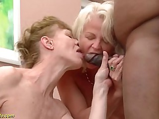 ground-breaking lickerish 71 with an increment of 82 years age-old matures in a wild big black cock interracial deepthroat anal fuck orgy