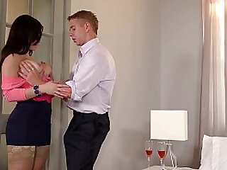 Big-busted Spanish Scrivener Nekane gets her Big Butt Fucked being done