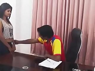 Indian boss interviews a new gossip columnist