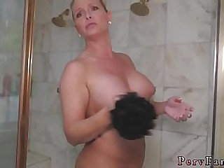 white main fucked hard to the fullest extent a finally moms showering