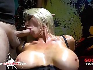 Gaffer hot MILF Emma Starr gets her massive bowels and inviting face cum imperceivable in a offbeat hardcore gangbang! German Slush Girls